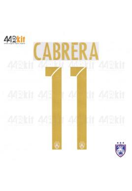 OFFICIAL CABRERA #11 JOHOR DARUL TAKZIM FC AWAY MSL 2020 PRINT
