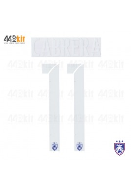OFFICIAL CABRERA #11 JOHOR DARUL TAKZIM FC HOME MSL 2020 PRINT
