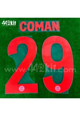 Official COMAN #29 FC Bayern Munich Away 2020-21 PU PRINT