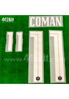 Official COMAN #11 France FFF Home 2020-21 PRINT