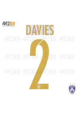 OFFICIAL DAVIES #2 JOHOR DARUL TAKZIM FC AWAY MSL 2020 PRINT