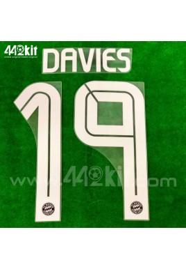 Official DAVIES #19 FC Bayern Munich 3rd 2020-21 PU PRINT