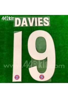 Official DAVIES #19 FC Bayern Munich Home 2020-21 PU PRINT