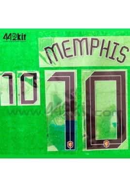 Official MEMPHIS #10 NETHERLANDS KNVB Home 2020-21 PRINT