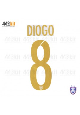 OFFICIAL DIOGO #8 JOHOR DARUL TAKZIM FC AWAY MSL 2020 PRINT