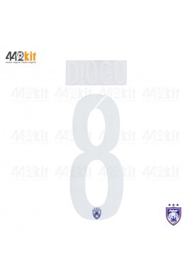 OFFICIAL DIOGO #8 JOHOR DARUL TAKZIM FC HOME MSL 2020 PRINT
