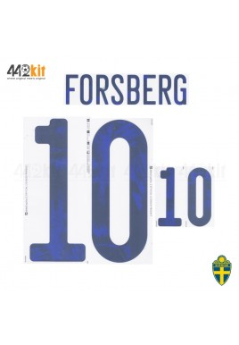 Official FORSBERG #10 SWEDEN Home EURO 2020 2010-21 PRINT