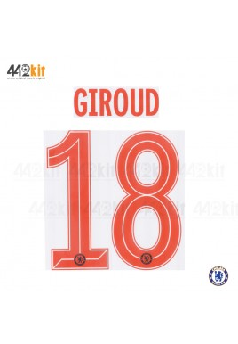 OFFICIAL GIROUD #18 Chelsea 3rd CUP UCL 2019-20 PRINT