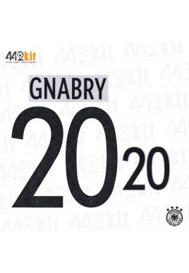 Official GNABRY #20 Germany Home EURO 2020 2020-21 PRINT