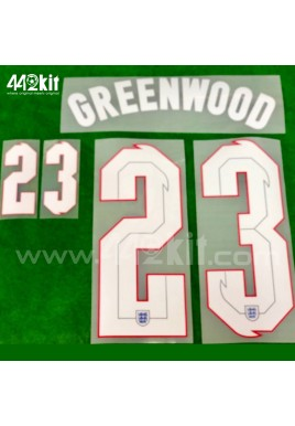 Official GREENWOOD #23 England Away 2020-21 PRINT