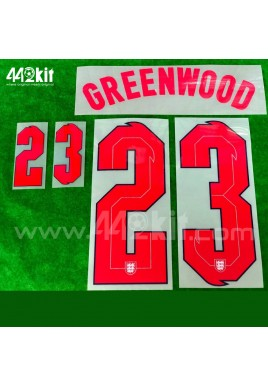 Official GREENWOOD #23 England Home 2020-21 PRINT