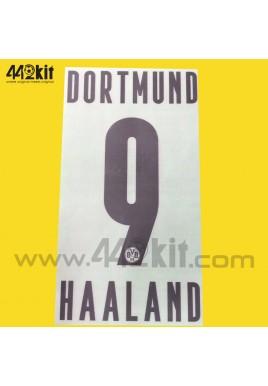 Official HAALAND #9 Borussia Dortmund BVB Home 2020-21 PU PRINT