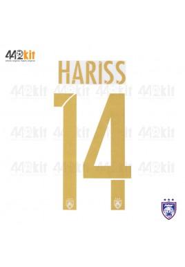 OFFICIAL HARISS #14 JOHOR DARUL TAKZIM FC Away MSL 2020 PRINT