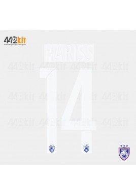 OFFICIAL HARISS #14 JOHOR DARUL TAKZIM FC HOME MSL 2020 PRINT