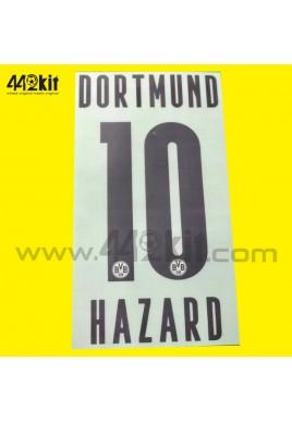 Official HAZARD #10 Borussia Dortmund BVB Home 2020-21 PU PRINT