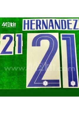 Official HERNANDEZ #21 France FFF Away 2020-21 PRINT