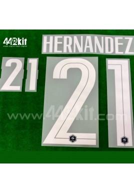 Official HERNANDEZ #21 France FFF Home 2020-21 PRINT