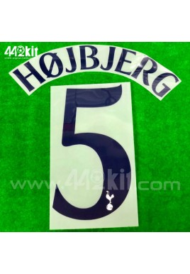 OFFICIAL HOJBJERG #5 Tottenham Hotspurs Home CUP EUROPA 2020-21 PRINT