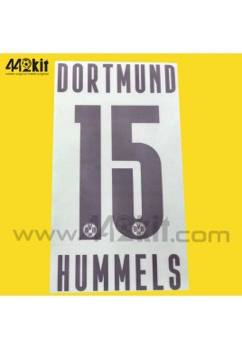 Official HUMMELS #15 Borussia Dortmund BVB Home 2020-21 PU PRINT