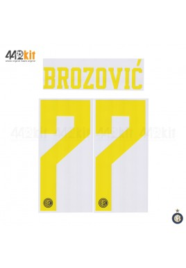 Official BROZOVIC #77 Inter Milan 3rd 2019-2020 PRINT