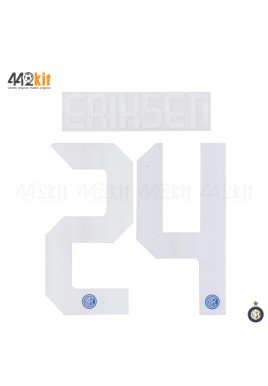 Official ERIKSEN #24 Inter Milan Home 2019-2020 PRINT