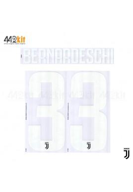 Official BERNARDESCHI #33 Juventus FC Home 2019-2020 PRINT