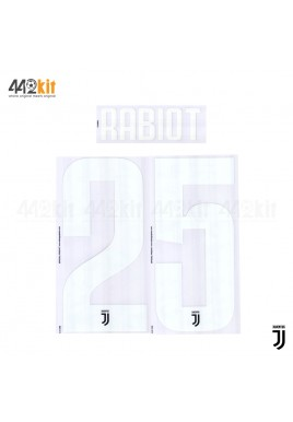 Official RABIOT #25 Juventus FC Home 2019-2020 PRINT