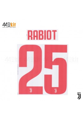 Official RABIOT #25 Juventus FC Away 2019-2020 PRINT