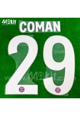 Official COMAN #29 FC Bayern Munich Home 2020-21 PU PRINT