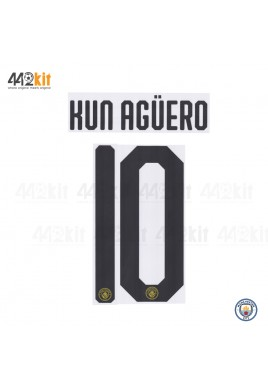 OFFICIAL KUN AGUERO #10 Manchester City FC 3rd UCL CUP 2019-20 PRINT