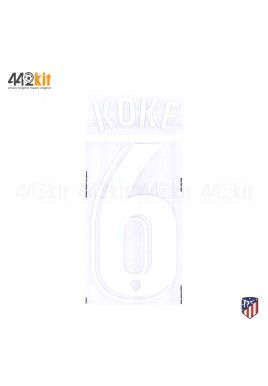 OFFICIAL KOKE #6 Atletico de Madrid Home LA LIGA 2019-20 PRINT