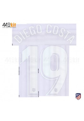 OFFICIAL DIEGO COSTA #19 Atletico de Madrid Home LA LIGA 2019-20 PRINT