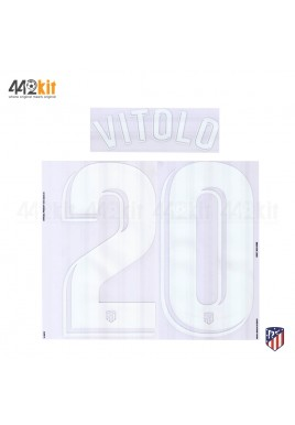 OFFICIAL VITOLO #20 Atletico de Madrid Home LA LIGA 2019-20 PRINT