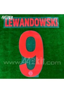 Official LEWANDOWSKI #9 FC Bayern Munich Away 2020-21 PU PRINT