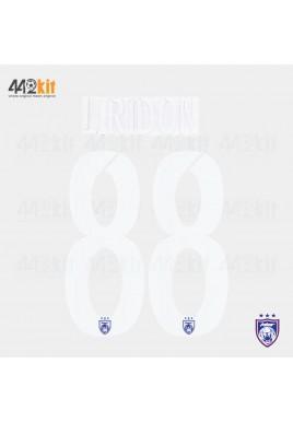OFFICIAL LIRIDON #88 JOHOR DARUL TAKZIM FC HOME MSL 2020 PRINT