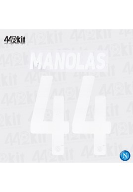 Official MANOLAS #44 SSC NAPOLI Home 2019-20 PRINT