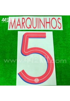 Official MARQUINHOS #5 PSG Away UCL 2020-21 PRINT