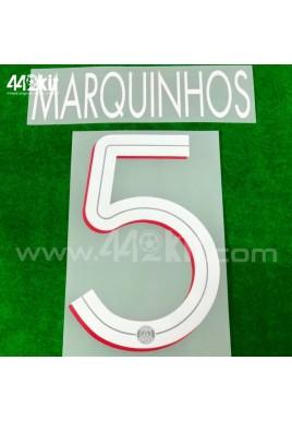 Official MARQUINHOS #5 PSG Home UCL 2020-21 PRINT
