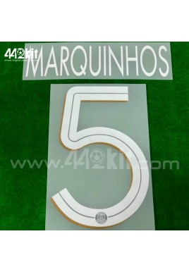 Official MARQUINHOS #5 PSG 3rd UCL 2020-21 PRINT