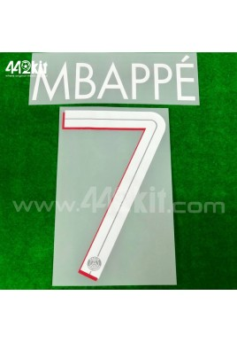 Official MBAPPE #7 PSG Home UCL 2020-21 PRINT