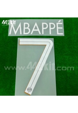 Official MBAPPE #7 PSG 3rd UCL 2020-21 PRINT