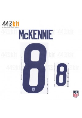 OFFICIAL MCKENNIE #8 USA HOME 2020-21 PU PRINT