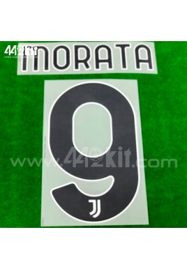 Official MORATA #9 Juventus FC Home 2020-21 PRINT