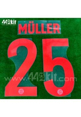 Official MULLER #25 FC Bayern Munich Away 2020-21 PU PRINT