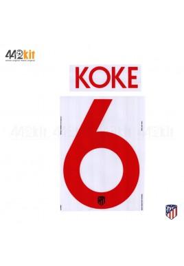 OFFICIAL KOKE #6 Atletico de Madrid Away UCL 2019-20 PRINT
