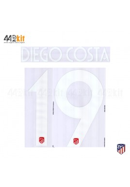 OFFICIAL DIEGO COSTA #19 Atletico de Madrid Home UCL 2019-20 PRINT