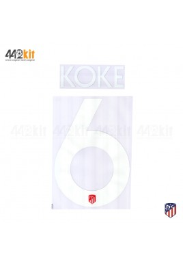 OFFICIAL KOKE #6 Atletico de Madrid Home UCL 2019-20 PRINT