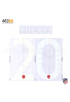 OFFICIAL VITOLO #20 Atletico de Madrid Home UCL 2019-20 PRINT