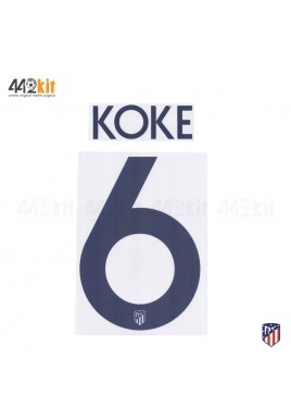 OFFICIAL KOKE #6 Atletico de Madrid 3rd UCL 2019-20 PRINT