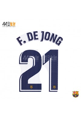 OFFICIAL PLAYER ISSUE F.DE JONG #21 FC Barcelona Away 2019-20 PRINT